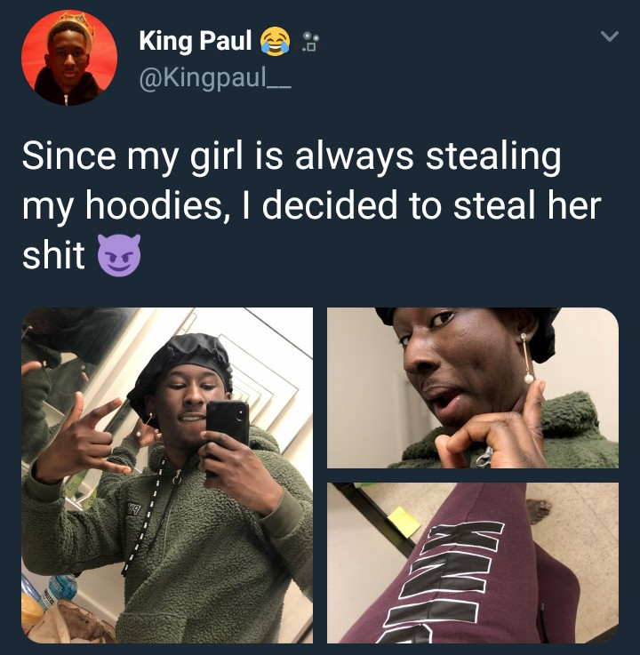 See how this guy got back at his girlfriend for wearing his stuff