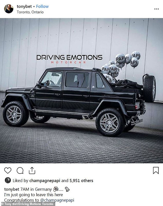 Drake splashes a whopping $600K on an ultra-rare Mercedes-Maybach G 650 Landaulet all-terrain vehicle (Photos)