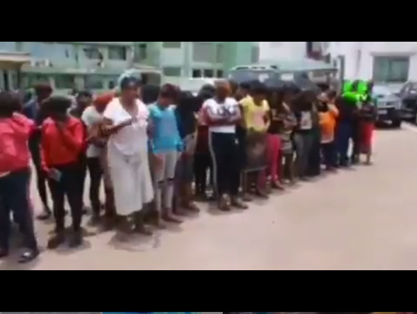 Ghana Immigration service arrest 72 Nigerian women for prostitution (Video)