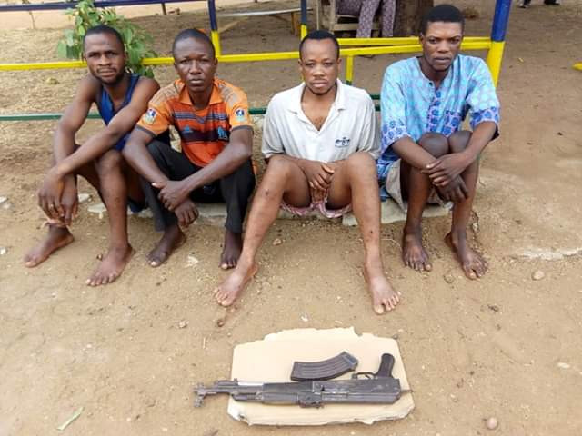 Photos: Benue police parade suspect who killed young man for ritual purpose and defrauded victim