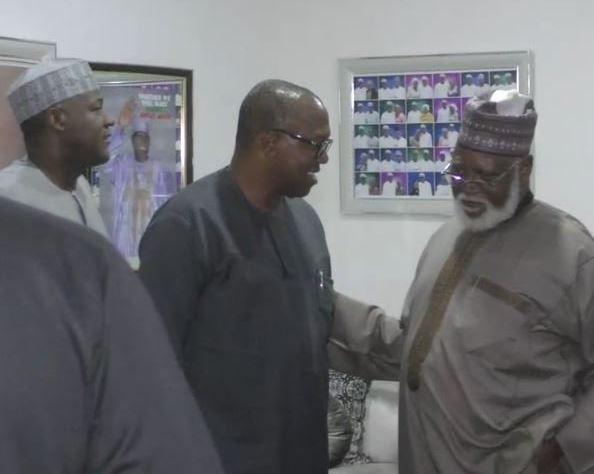 National peace committee meets PDP presidential candidate, Atiku Abubakar, Peter Obi and Bukola Saraki (Photos)
