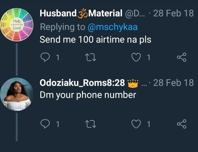One year after, Nigerian lady set to walk down the aisle with a stranger who begged her for 100 naira airtime on Twitter?