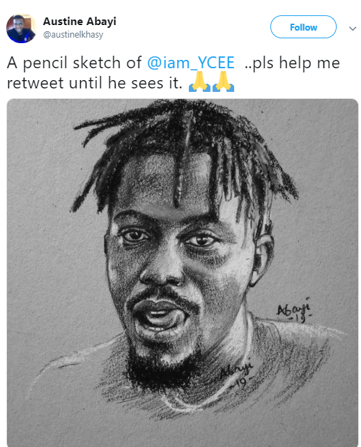 Nigerians drag Y Cee for his comment after an artist did a drawing of him