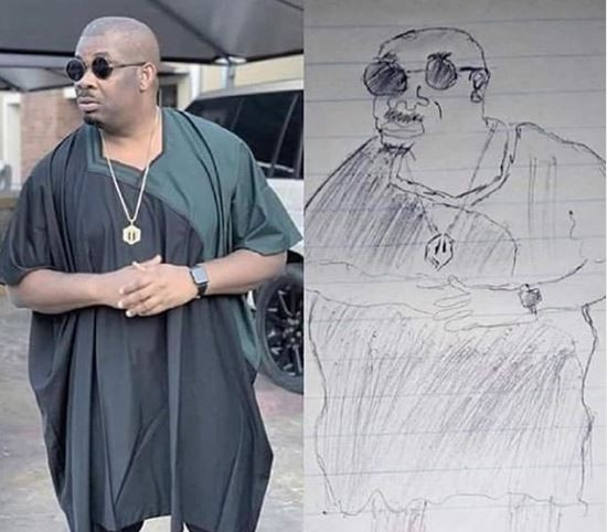 This pencil sketch of Don Jazzy is the funniest thing you