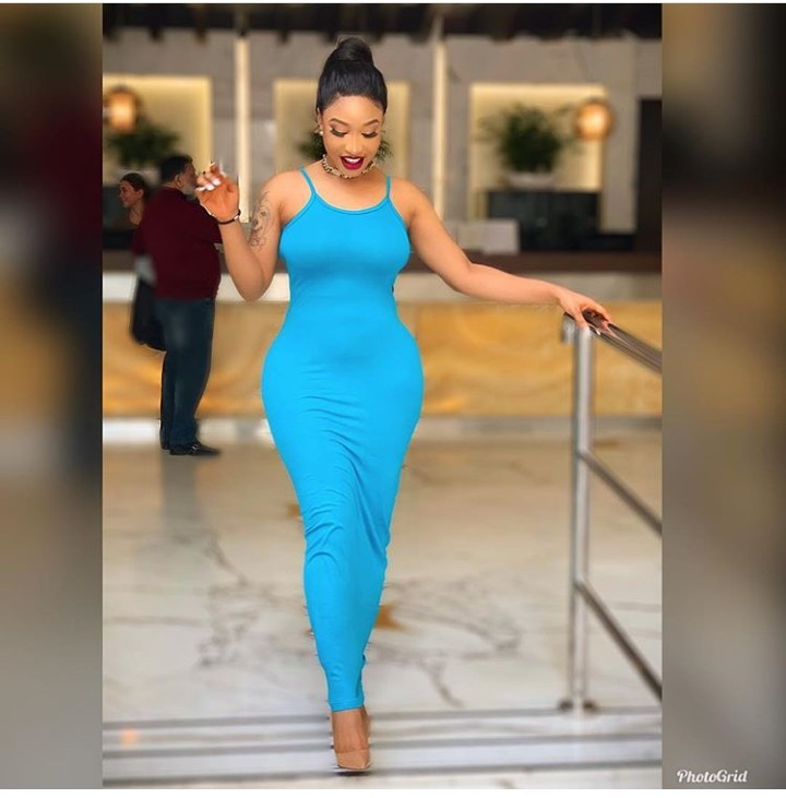 Tonto Dikeh shows off her dress which cost less than ?1,500 and reveals the lesson she learnt over the years that kept her from being broke