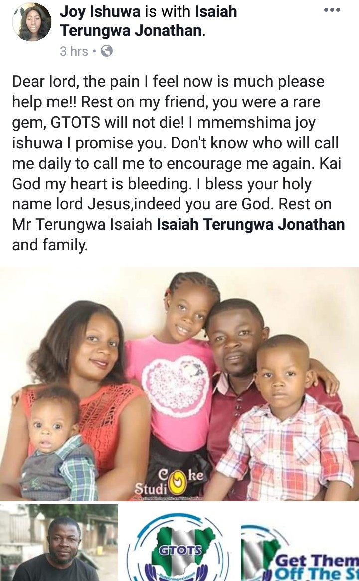 "Man, wife, 3 children burnt to death hours after posting on Facebook ""I stay winning in this month of March"""