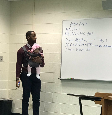 Lecturer is praised by social media users after photo of him carrying a student