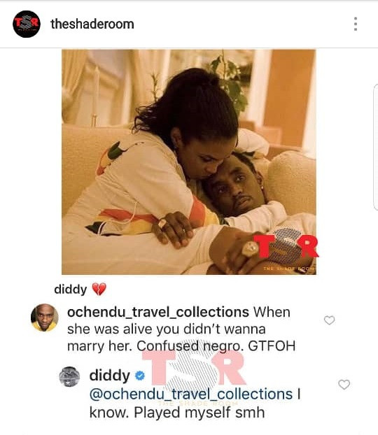 Diddy admits he