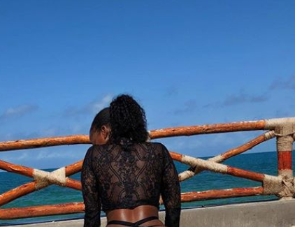 Curvaceous Kenyan lawyer, Corazon Kwamboka flaunts her gargantuan backside in new racy photo