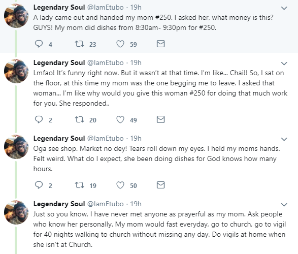 Nigerian man shares photos from his mum