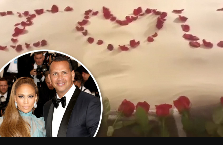 Alex Rodriguez Shows Off Decorated Bed With Roses Where He Proposed To Jennifer Lopez (Photos)
