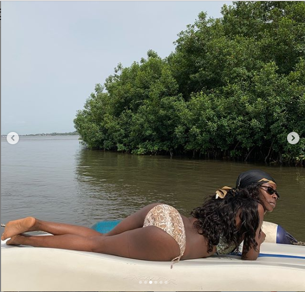 BBN star Khloe shows off bikini body with her backside on display (Photos)