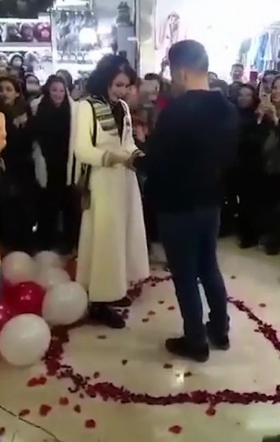 "Couple arrested in Iran over romantic shopping mall proposal because it ""offended Islam"" (video)"