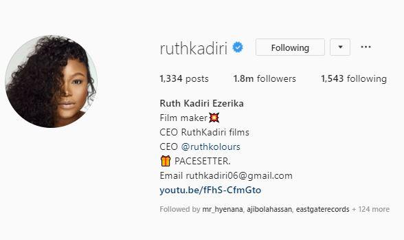 Nollywood actress, Ruth Kadiri adds