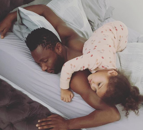 Adorable photo of Mikel Obi with one of his daughters