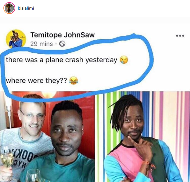 """Hate is too much a burden to bear"" Bisi Alimi says after man wondered why he and his husband were not victims of the Ethiopia Airlines crash"