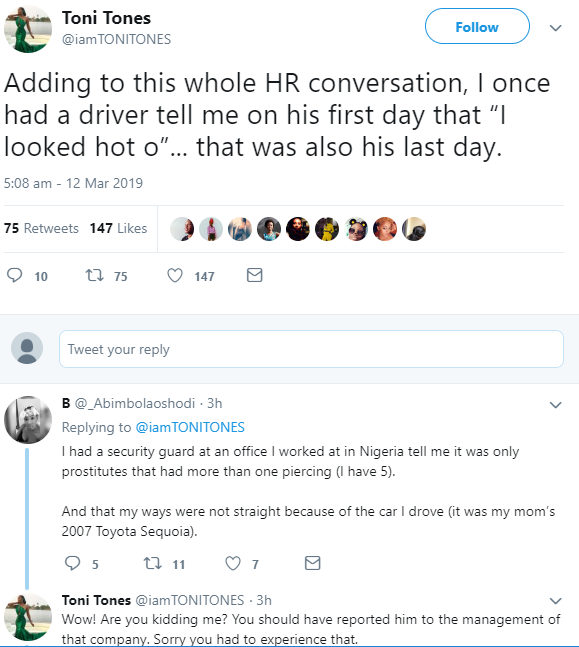 """Toni Tones shares her experience with an inappropriate staff who overstepped his bounds amid the """"you smell nice"""" conversation"""