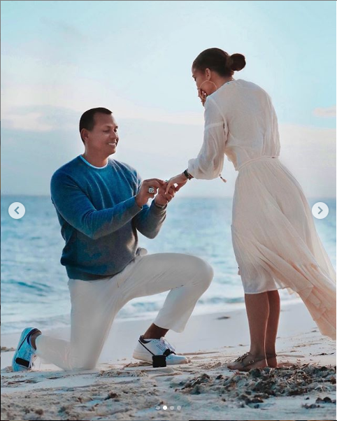 See lovely photos from the scene where Alex Rodriguez proposed to Jennifer Lopez