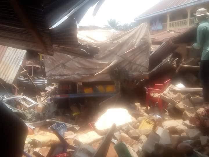 Trailer rams into market in Anambra, kills three (graphic photos)