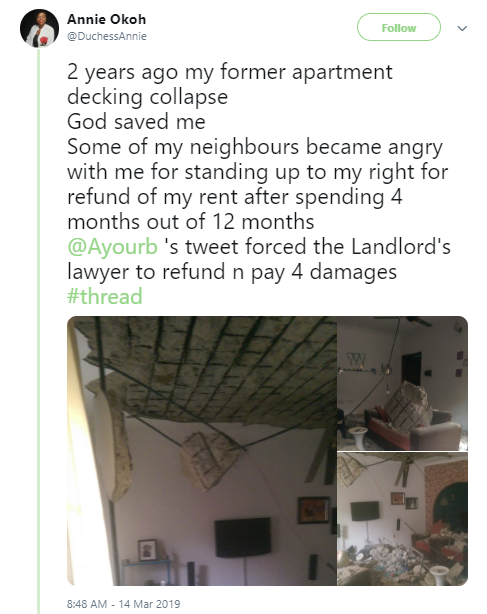 Photos: Lady moves into a new apartment and what happened four months after will leave you in shock