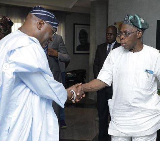 Photos from Atiku and Obasanjo