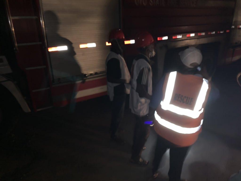 More photos: Three-storey building under construction collapses in Ibadan