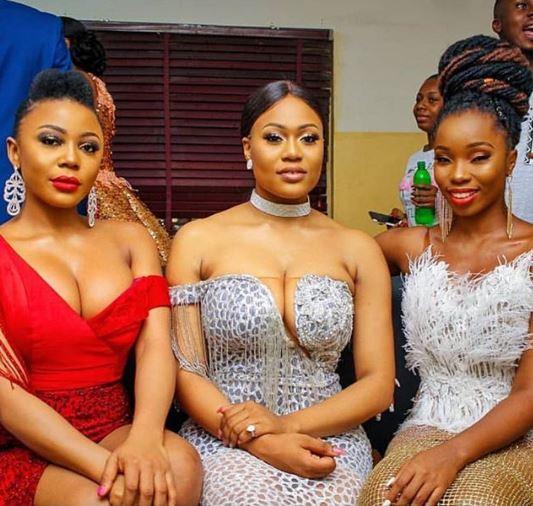 Hot new photo of ex-BBNaija housemates, Bam Bam, Ifu Enada and Vandora