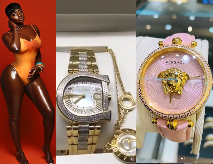 Actress Princess Shyngle Shows Off Two Expensive Wrist Watches Her Man Gave Her Weeks After G-Wagon Gift From Him (Videos)