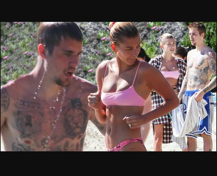 Justin Bieber and his wife Hailey Baldwin enjoy fun day at the beach (Photos)