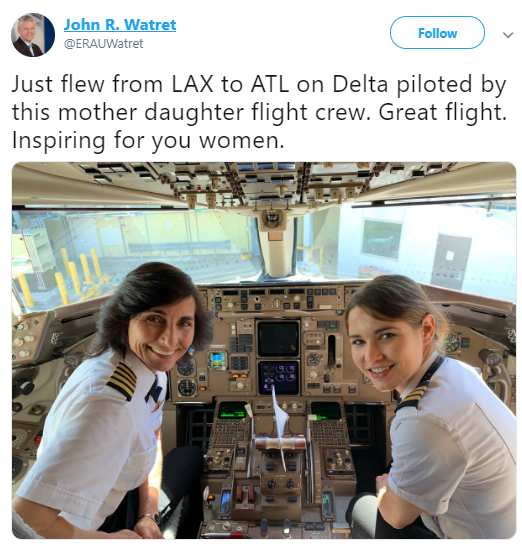 Inspiring story of a mother and daughter duo who piloted a Delta flight