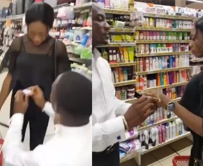 Proposal Gone Wrong!!! A Woman Walk Out On Her Boyfriend When He Surprised Her With A Proposal In A Mall In OnitshaVideo)