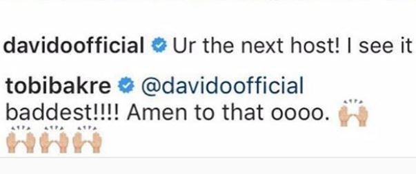 , Davido reveals next Big Brother Naija host
