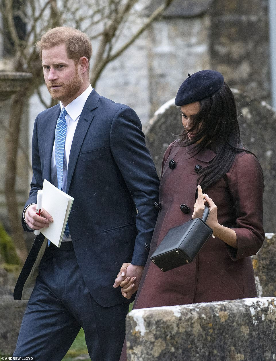 Meghan Markle joins husband Harry and other members of the Royal Family for the christening of Zara Tindall