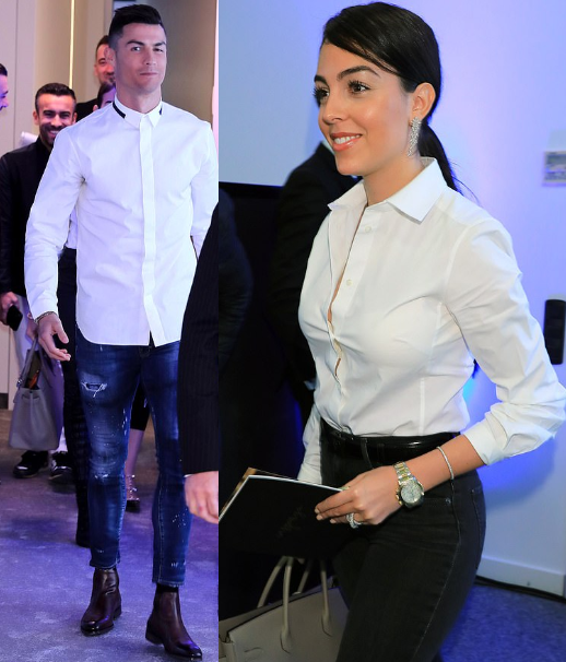 Cristiano Ronaldo and girlfriend Georgina Rodriguez look stylish as they attend the opening of his hair transplant clinic in Spain (Photos)