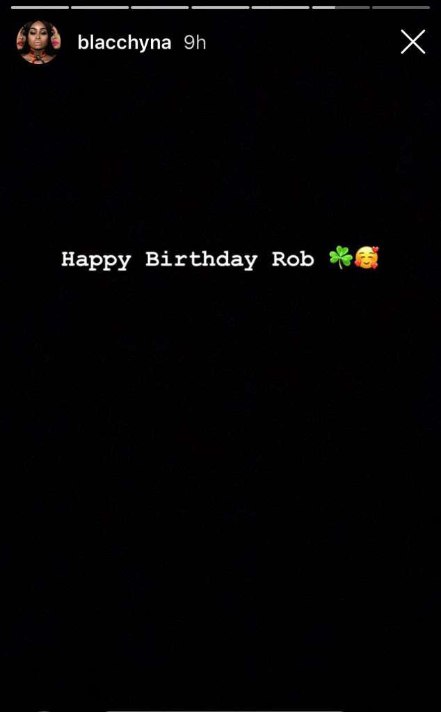 Blac Chyna celebrates her ex-Rob Kardashian on his 32nd birthday?