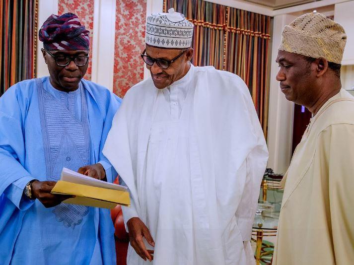 Governor Elect of Lagos State Babajide Sanwoolu visits President Buhari (Photos)
