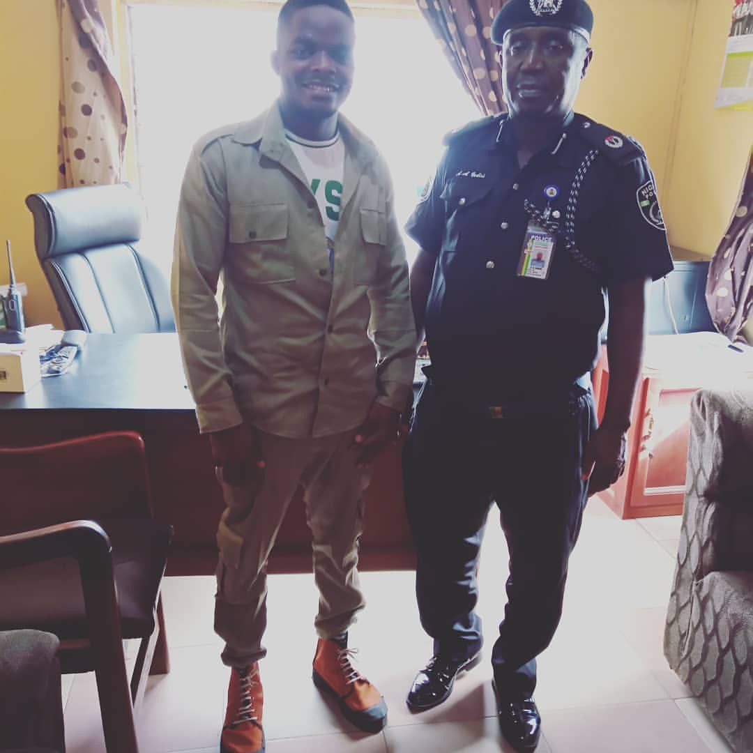 Ex-corper celebrates police officer who saved him from his oppressor while serving in Edo