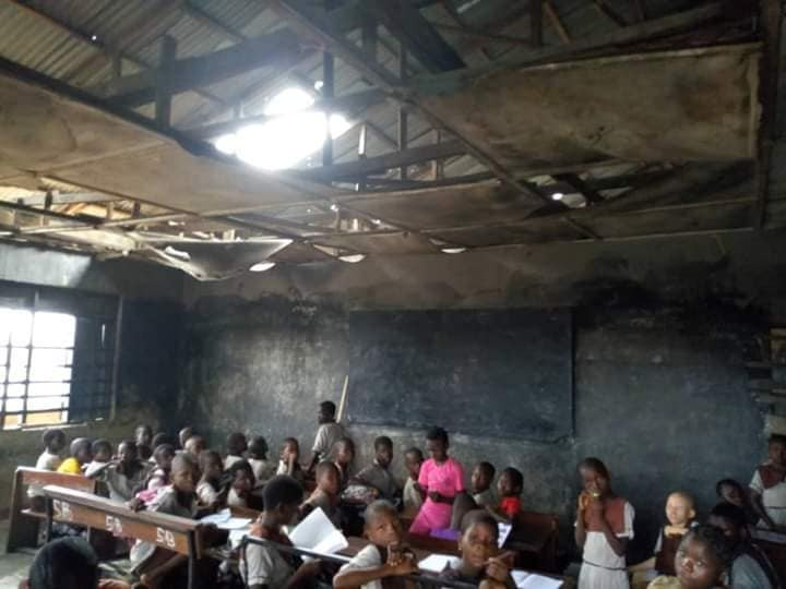 Photos: Delta state government begins renovation on primary school after video of little girl complaining about being sent home went viral