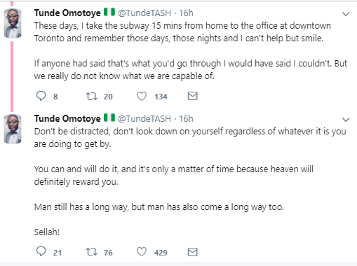 Man narrates what happened after he left his well paying job in Nigeria to move to Canada and it