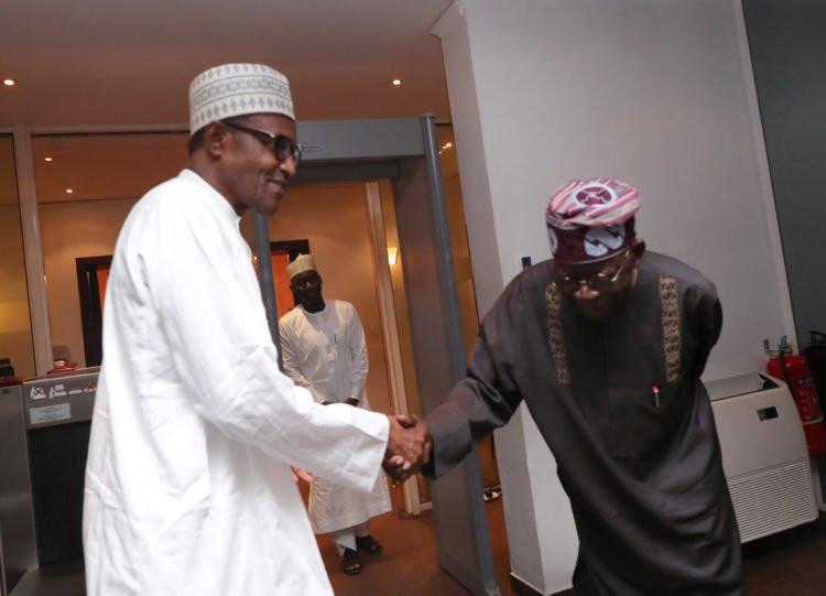 Photos: President Buhari receives Tinubu in Abuja