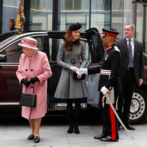 Kate Middleton joins The Queen for their first ever joint official engagement together