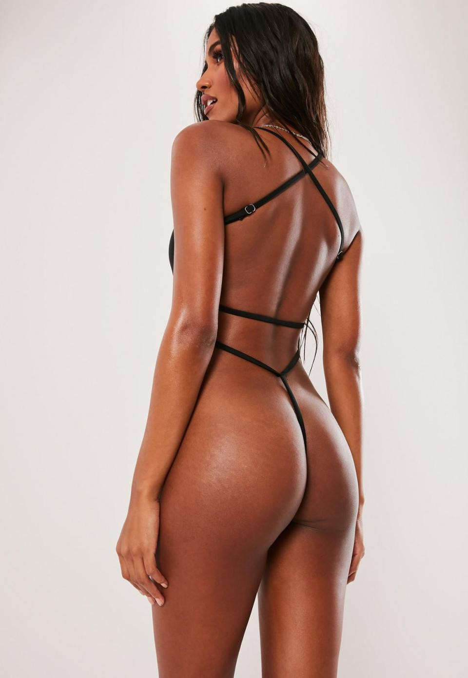 Ladies, would you rock this thong swimsuit that will leave your backside completely exposed? (Photos)