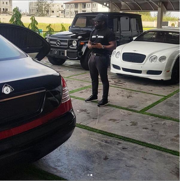 Timaya shows off his impressive garage (photo)