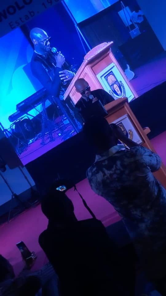 Photos: 2face Idibia bags Music fellowship award from the Obafemi Awolowo University