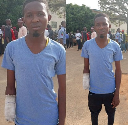 Graphic: Cultists slash wrist of innocent man they thought was their rival in Jos
