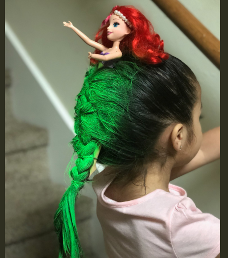 Girl Wins Schools Crazy Hair Day After She Arrived In Little