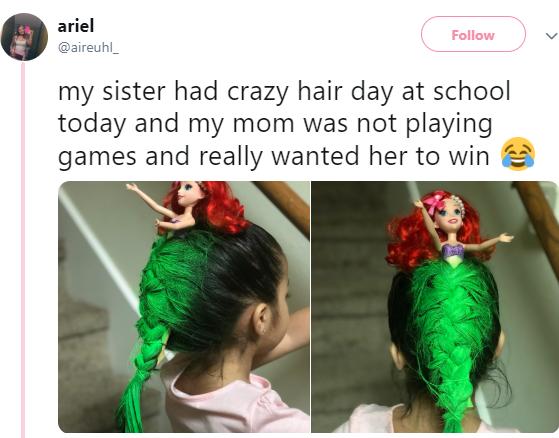 Girl wins school