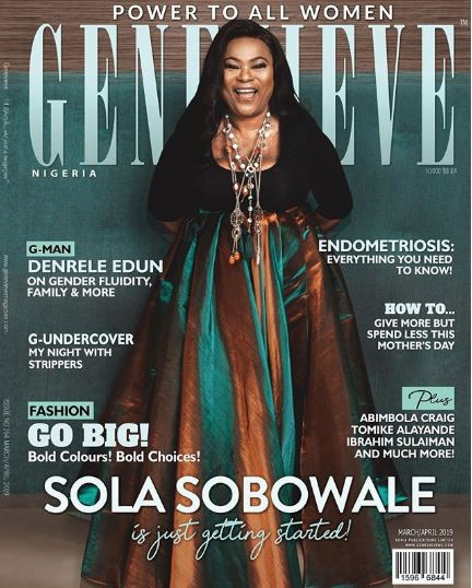 Nollywood actress, Sola Sobowale covers the latest edition of Genevieve Magazine (Photos)