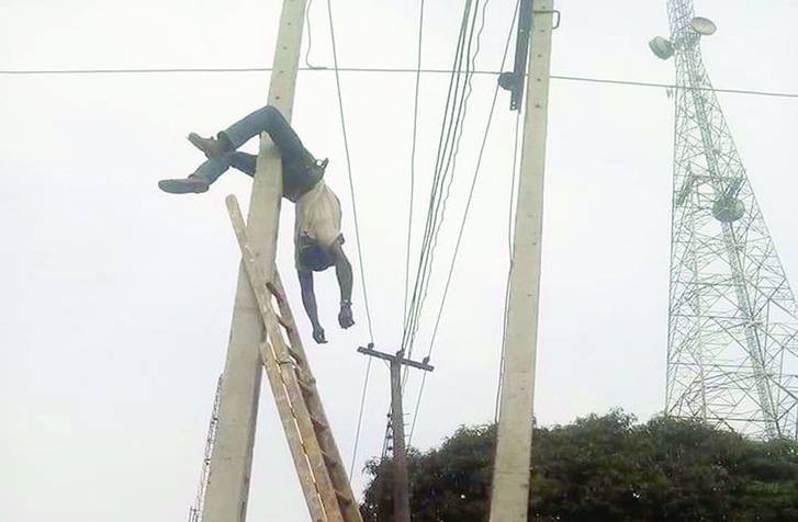 Photos: PHCN worker electrocuted in Nasarawa