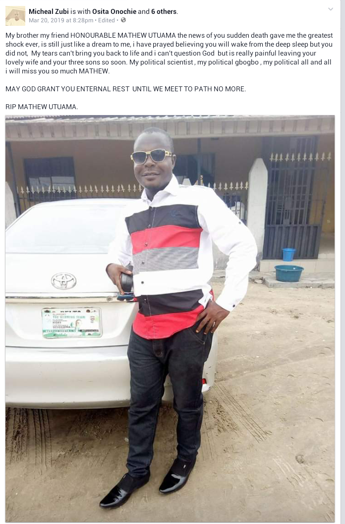 Thunderstorm allegedly kills younger brother to former Delta State Deputy Governor, two others in Ughelli